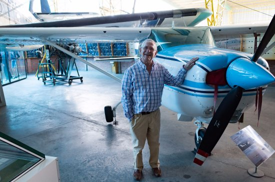 Museo Aéréo Fénix: The director and the plane he used to fly up until recently.