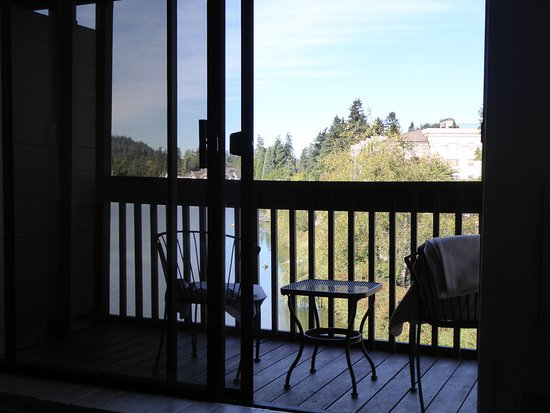 Lake Oswego, Oregón: Lakeshore Inn - view from inside room