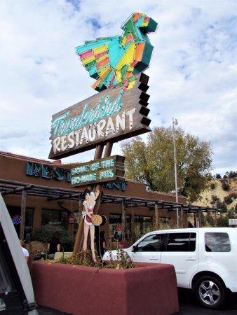 Sign in front of Thunderbird Restaurant, Mount Carmel, UT