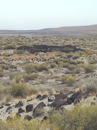 Sand Mountain: Old ruins of Pony Express Station