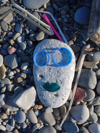Mentor, OH: Lots of plastic washed up on the beach :)