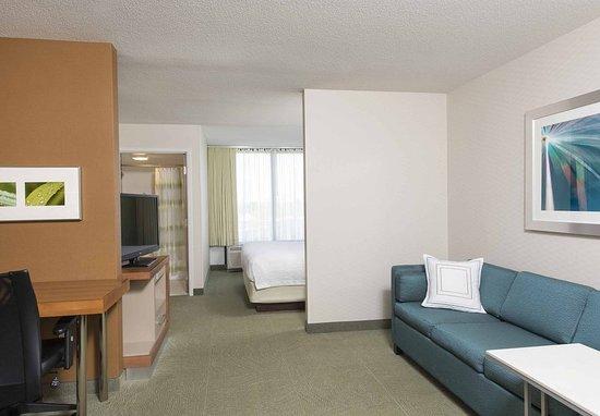 Peoria, إلينوي: King Studio Suite Living Area