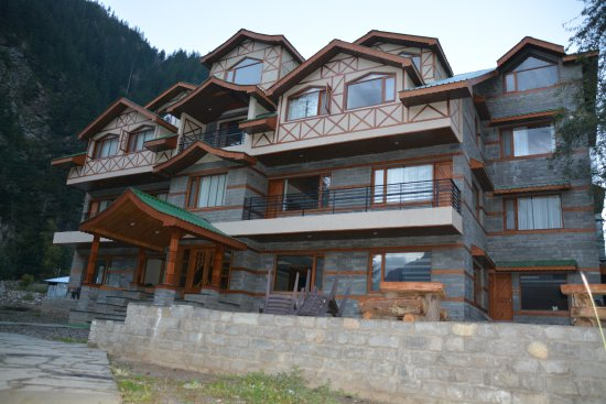 Sangla, India: View of hotel
