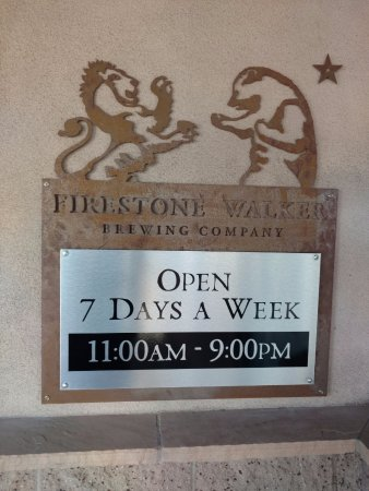 The Tap room: FIRESTONE HOURS SIGN