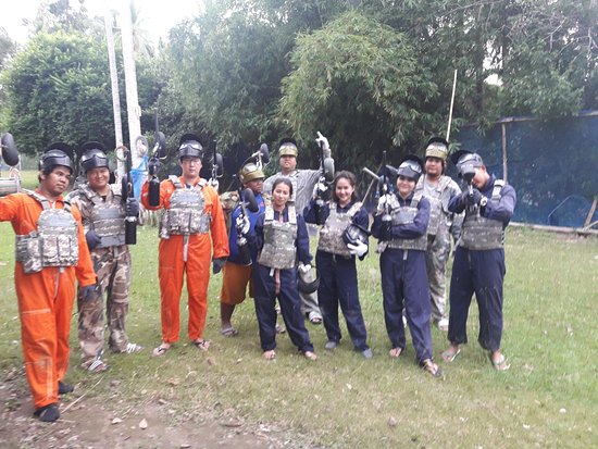 Mae Nam, Tailandia: Thank you very much for your visit to the Paintball party Samui very good team