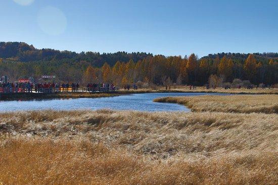 Chifeng, Çin: 秋天的草原美景