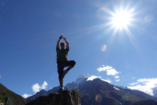 Kathmandu Valley, Nepal: Yogo on the mountain top