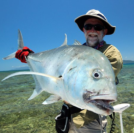 Cooktown, Australie : Fly caught GT