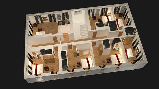 The Dom Hotel : Floor plan 1-4