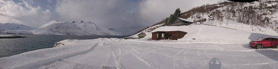Ersfjordbotn, Norwegia: Thick snow in March 2017