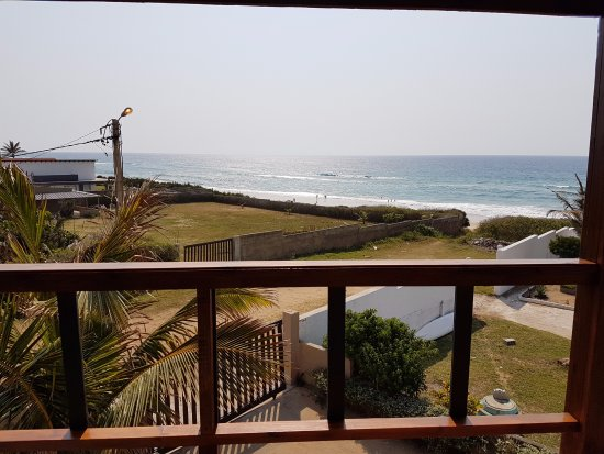 Ponta do Ouro, Mozambique: This is the view from the Whale View balcony, overlooking the ocean that is minutes away.