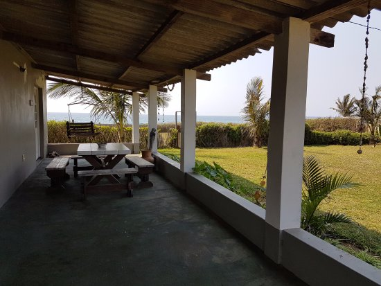 Ponta do Ouro, Mozambique: The relaxing area for visitors to enjoy the beautiful ocean breeze.
