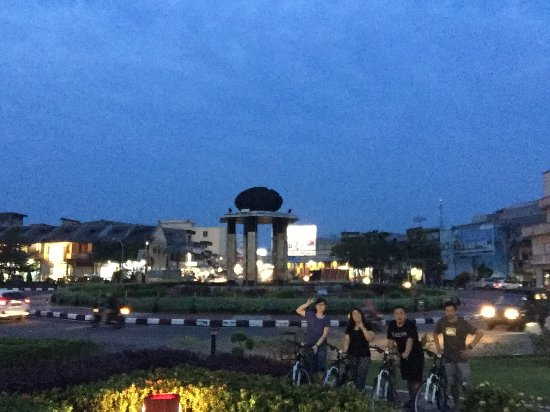night view of batu satam monument picture of satam stone monument