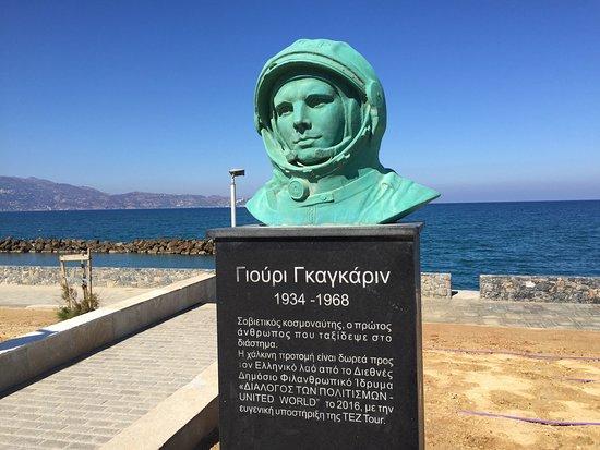 Heraklion, Greece: Yuri Gagarin Monument