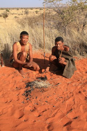 Bagatelle Kalahari Game Ranch: Balalde avec bushmens
