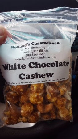 Washington, IL: White Chocolate Cashew