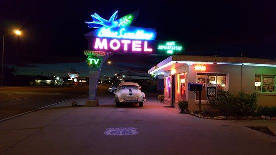 Tucumcari, NM: Neon Sign at Night.