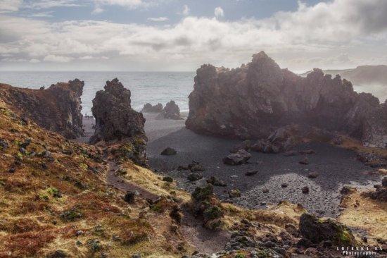 Hellnar, Iceland: Галечный пляж Дритвик (Dritvik)