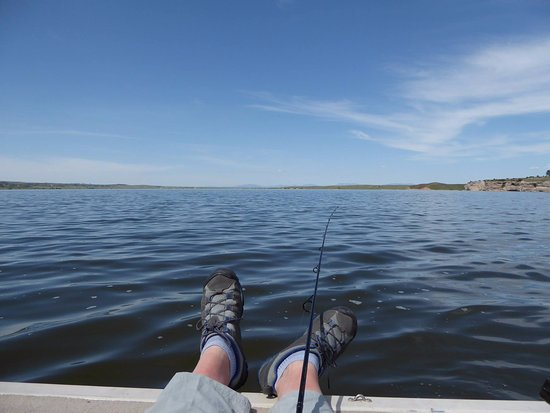Laramie, WY: Relaxing on the Grayrocks Reservoir while trolling for walleye