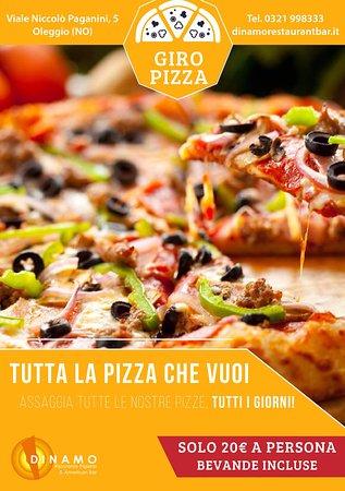 Oleggio, Italia: GIROPIZZA ALL INCLUSIVE  Mangi tutta la PIZZA che Vuoi e BEVANDE ILLIMITATE!  20 euro a persona