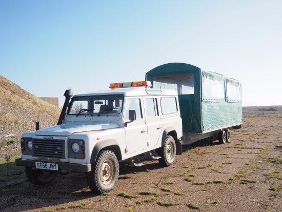 Orford, UK: Our transport method!!