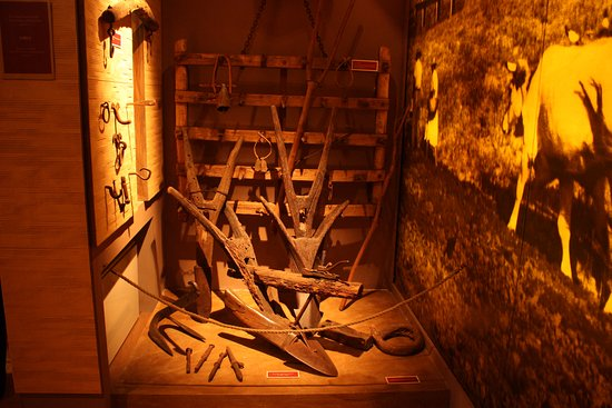 Montemassi, Italie : Alcuni aratri nel museo