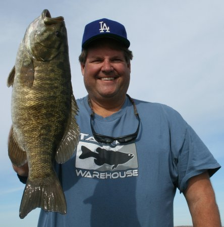 "Ashland, WI: 21"" smallmouth from Chequamegon Bay while staying at Americinn"