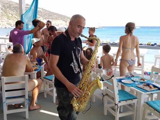 Platis Gialos, Grecia: saxophone