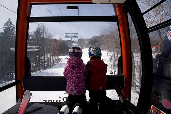 Newry, ME: The Chondola is one of 15 chairlifts at Sunday River Resort.