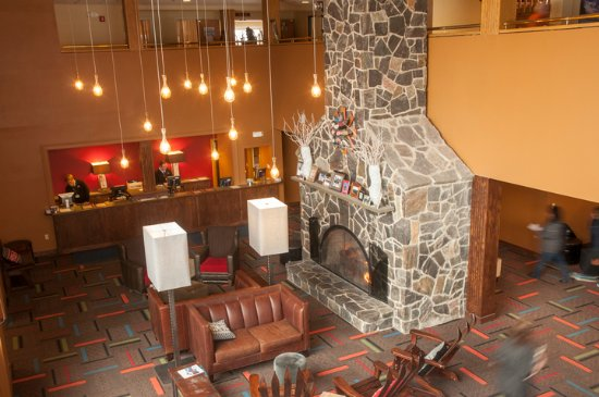 Sunday River Resort: The Grand Summit Hotel lobby is the perfect way to check-in and relax.