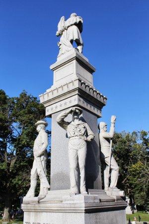 Civil War memorial at Oakwood Cemetery, Beloit.