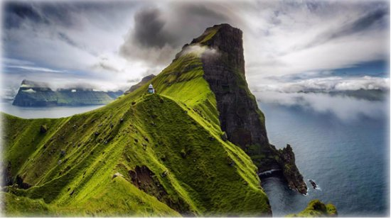Bordhoy, Færøyene: Kallur lighthouse on Kalsoy Island, Faroe Islands