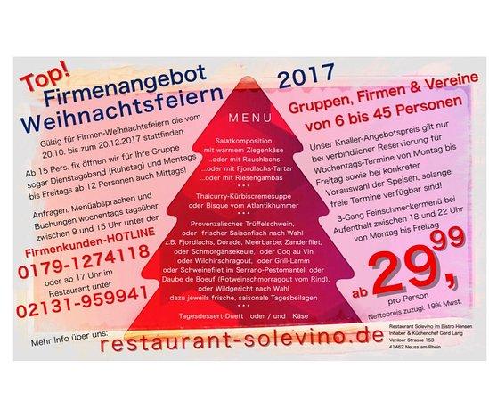 Neuss, Allemagne : TOP-Angebot für Weihnachtsfeiern!!!