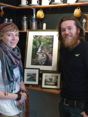 A7 Art Space: Celyn & Conor in the coffee corner