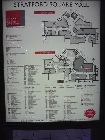 Bloomingdale, IL: Map of nearby Stratford Square Mall