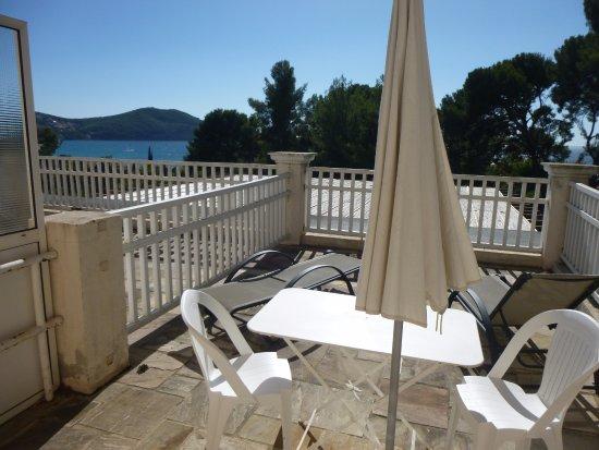 Grand Hotel Les Lecques : Grand Hôtel Les Lecques_St Cyr s/Mer_Terrasse de notre chambre