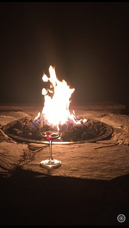 Lovingston, VA: Fire pit with a glass of local wine - perfect way to end a busy day!
