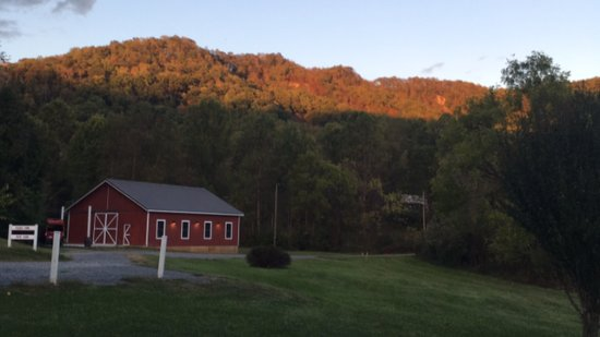 Lovingston, VA: One of the views from our room in the Farmhouse - wish I could wake up to that every day!
