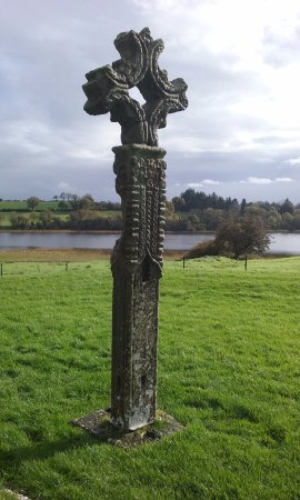 Irvinestown, UK: 8 foot high Celtic cross. Beautiful calm site.