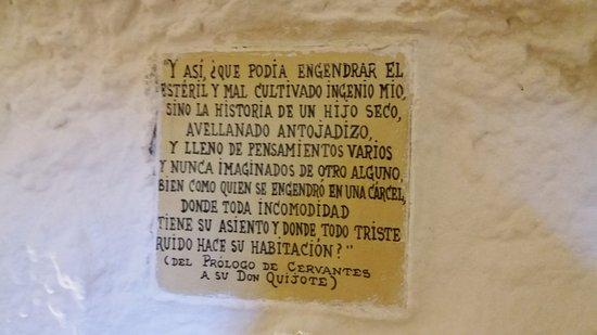 Argamasilla de Alba, Espanha: Frase del prólogo de Don Quijote