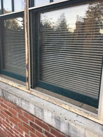 Lyndon House Bed & Breakfast: rotten windows, musty room, smelly sheets, broken a/c and shower