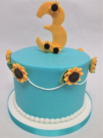 Bel Air, MD: Frozen Spring Fever Birthday Cake by Flavor Cupcakery
