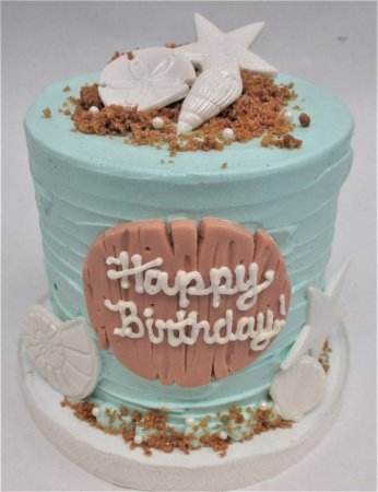 Flavor Cupcakery Bake Shop Beach Themed Birthday Cake By