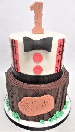 Flavor Cupcakery Bake Shop Lumberjack 1st Birthday Cake By
