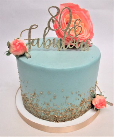 Flavor Cupcakery Bake Shop 80th Birthday Cake By