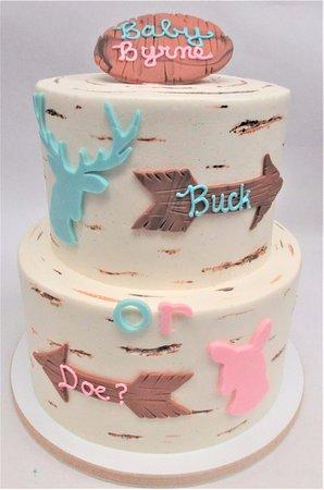 Bel Air, MD: Rustic Gender Reveal Cake by Flavor Cupcakery