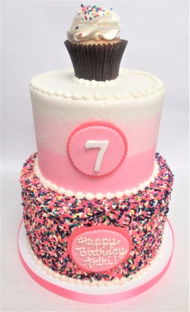 Flavor Cupcakery Bake Shop Cupcake And Sprinkles Birthday Cake By