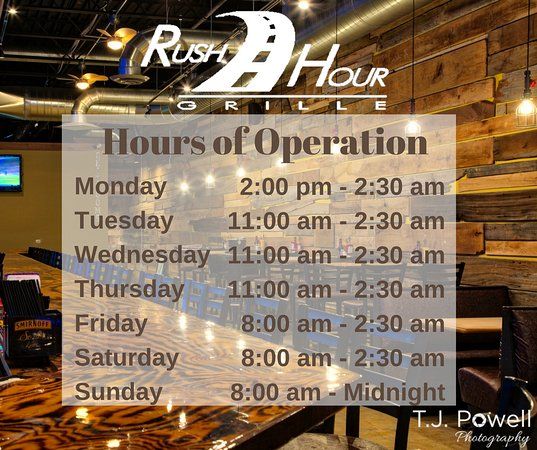 Twinsburg, OH: Hours of Operation.