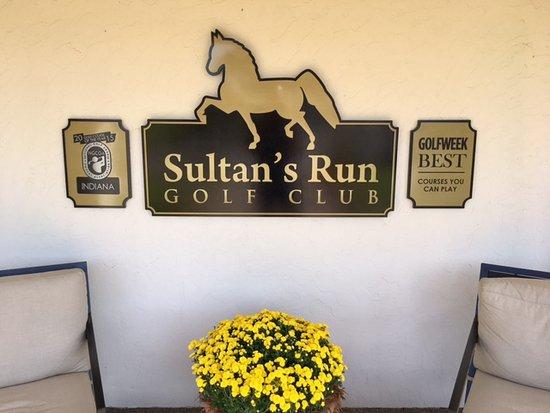 Jasper, IN: Sultan's Run Signage