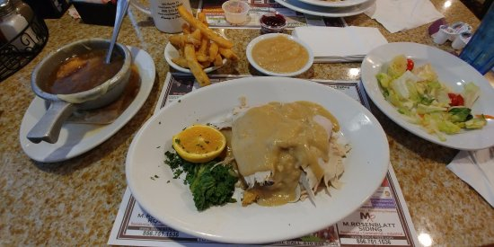 Voorhees, NJ: This is the Roast Turkey Dinner with fries and applesauce as sides.